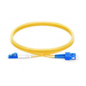 Fiber Patch Cable OS2-LC-SC-DX-1M-LSZH